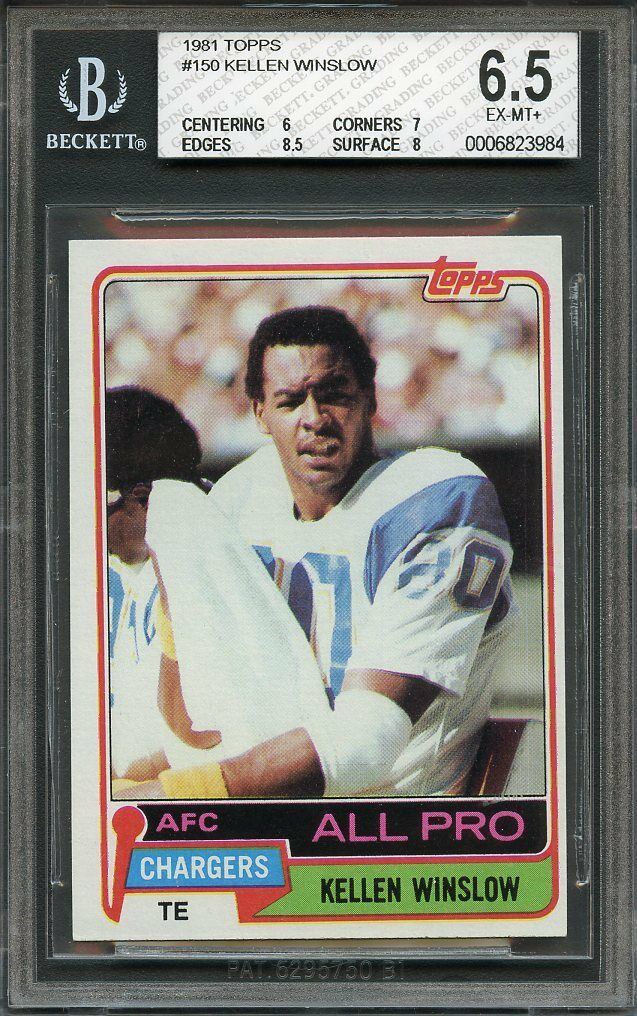 1981 topps #150 KELLEN WINSLOW san diego chargers rookie BGS 6.5 (6 7 8.5 8)