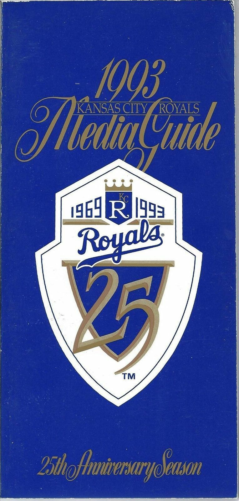 1993 Kansas City Royals Baseball MLB Media Guide - Annual Player Information