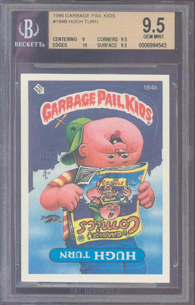 1986 topps garbage pail kids #184B HUGH TURN BGS 9 9.5 10 9.5