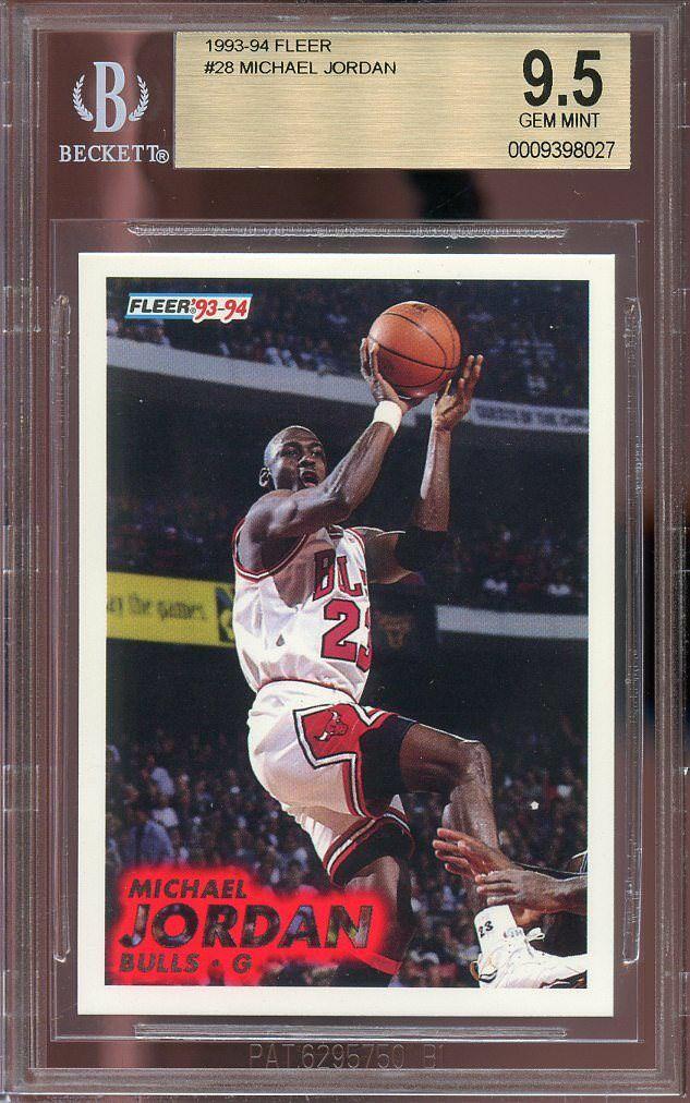 1993-94 fleer #28 MICHAEL JORDAN chicago bulls BGS 9.5