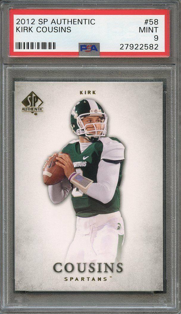 Kirk Cousins Rookie Card 2012 Sp Authentic #58 Washington Redskins PSA 9