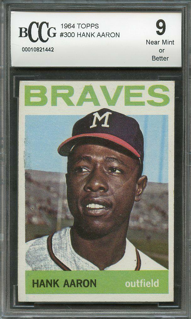Honkbal Verzamelingen 1964 Topps #300 Hank Aaron Milwaukee Braves Baseball Card