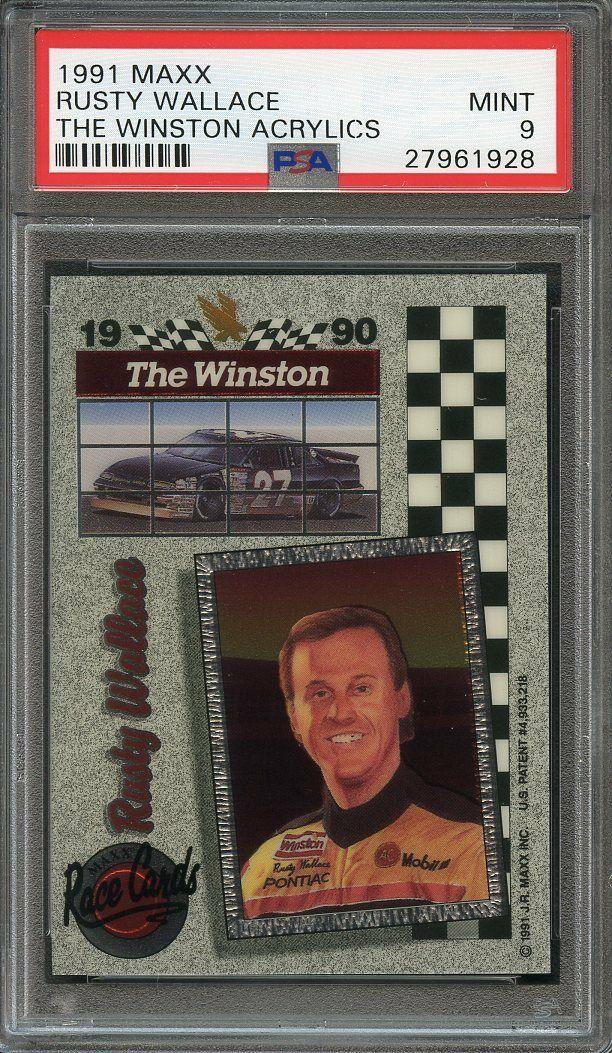 1991 maxx the winston acrylics RUSTY WALLACE nascar racing PSA 9