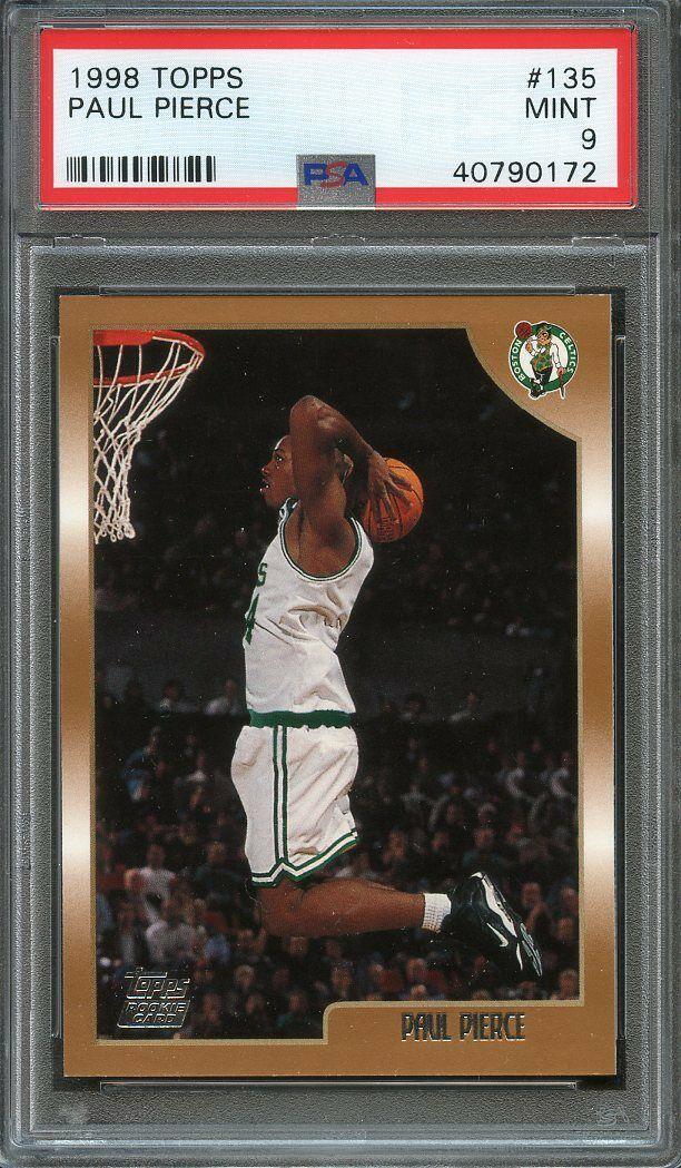 1998-99 topps #135 PAUL PIERCE boston celtics rookie card PSA 9