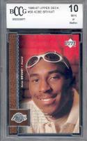 1996-97 upper deck #58 KOBE BRYANT los angeles lakers rookie card BGS BCCG 10