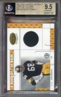 2003 leaf certified materials fabric of game jersey #32lo L.C. GREENWOOD BGS 9.5