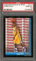2005-06 bowman dp & prospects #111 CHRIS PAUL rockets rookie card (POP 9) PSA 10
