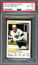 1991 panini stickers #78 WAYNE GRETZKY los angeles kings PSA 8