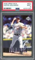 2006 upper deck #922 JUSTIN VERLANDER detroit tigers rookie card PSA 9