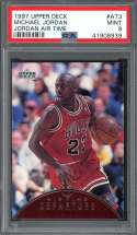 1997-98 upper deck jordan air time #at3 MICHAEL JORDAN chicago bulls PSA 9
