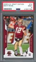 2008 u.d. draft edition #74 MATT RYAN atlanta falcons rookie card PSA 9