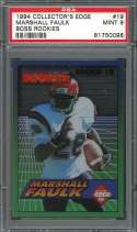 1994 collector's edge boss rookies #19 MARSHALL FAULK colts rookie card PSA 9