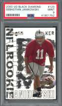 2000 ud black diamond #123 SEBASTIAN JANIKOWSKI oakland raiders rookie PSA 9
