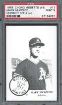 1985 chong modesto a's #17 MARK MCGWIRE athletics minor league rookie PSA 9