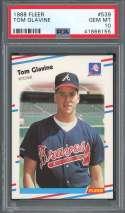 1988 fleer #539 TOM GLAVINE atlanta braves rookie card PSA 10