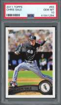 2011 topps #65 CHRIS SALE boston red sox rookie card PSA 10