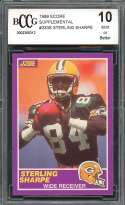 1989 score supplemental #333s STERLING SHARPE packers rookie card BGS BCCG 10