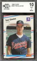 1988 fleer #539 TOM GLAVINE atlanta braves rookie card BGS BCCG 10
