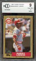 1987 topps tiffany #648 BARRY LARKIN cincinnati reds rookie card BGS BCCG 9