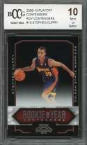 2009-10 playoff contenders roy contenders #10 STEPHEN CURRY rookie BGS BCCG 10