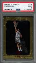 1997-98 sp authentic #128 TIM DUNCAN san antonio spurs rookie card PSA 9