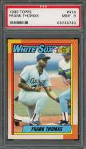 1990 topps #414 FRANK THOMAS chicago white sox rookie card PSA 9