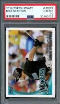 2010 topps update #us327 MIKE STANTON new york yankees rookie card PSA 10