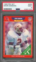 1989 pro set #486 DEION SANDERS atlanta falcons rookie card PSA 9