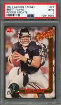 1991 action packed rookie update #21 BRETT FAVRE green bay packers rookie PSA 9