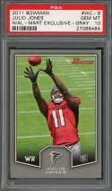 2011 bowman wal-mart exclusive gray #wc-9 JULIO JONES falcons rookie card PSA 10