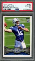 2012 topps #140 ANDREW LUCK indianapolis colts rookie card PSA 10