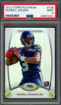 2012 topps platinum #138 RUSSELL WILSON seattle seahawks rookie card PSA 9