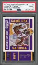 2017 panini contenders dp game day tickets #2 LEONARD FOURNETTE rookie PSA 9