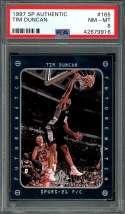 1997-98 sp authentic #165 TIM DUNCAN san antonio spurs rookie card PSA 8