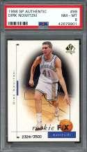 1998-99 sp authentic #99 DIRK NOWITZKI dallas mavericks rookie card PSA 8