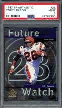 1997 sp authentic #25 COREY DILLON cincinnati bengals rookie card PSA 9