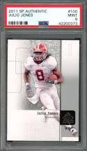 2011 sp authentic #100 JULIO JONES atlanta falcons rookie card PSA 9