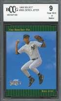 1993 select #360 DEREK JETER new york yankees rookie card BGS BCCG 9