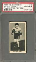 1938 f.c. cartledge famous prize fighters #43 JACK KID BERG boxer PSA 8