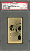1938 f.c. cartledge famous prize fighters #44 GUSTAVE HUMERY boxer PSA 7