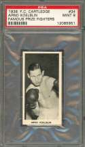 1938 f.c. cartledge famous prize fighters #34 ARNO KOELBLIN boxer PSA 9