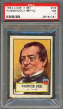 1952 look 'n see #18 WASHINGTON IRVING author PSA 7