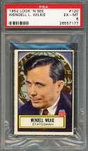 1952 look 'n sell #120 WENDELL L. WILKIE statesman PSA 6