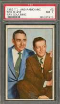 1952 t.v. and radio nbc #2 BOB ELLIOT / RAY GOULDING PSA 7