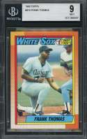 1990 topps #414 FRANK THOMAS chicago white sox rookie card BGS 9