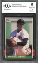 1985 donruss #273 ROGER CLEMENS boston red sox rookie card BGS BCCG 9