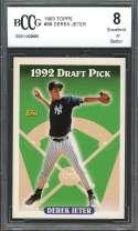 1993 topps #98 DEREK JETER new york yankees rookie card BGS BCCG 8