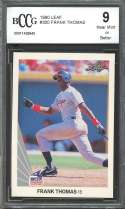 1990 leaf #300 FRANK THOMAS chicago white sox rookie card BGS BCCG 9