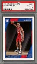 2016-17 panini hoops #261 BEN SIMMONS philadelphia 76ers rookie card PSA 10