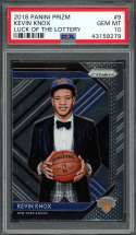 2018-19 panini prizm luck of the lottery #9 KEVIN KNOX knicks rookie card PSA 10